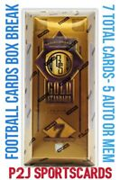 2020 PANINI GOLD STANDARD FOOTBALL CARD HOBBY Box BREAK 1 RANDOM TEAM Break 3911