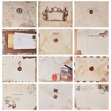 Scrapbook Mini Envelopes Pack of 12 Designs 9.5 x 7.2 cm Vintage Style