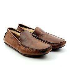 To Boot New York Brown Leather Casual Slip On Driving Loafers Shoes Men's Sz 9.5