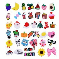 40pcs Fruit Vegetable X'mas Shoe Charms Adapts For Wristband Kids Birthday Gifts