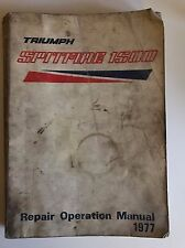 Triumph Spitfire 1500 Repair Operation Manual 1977