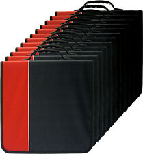(12) CRY-E360RD 360 Disc Capacity Black & Red CD DVD Binders Storage Media 350