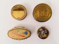 Lot Of 4 Vintage Pill - Parts Boxes