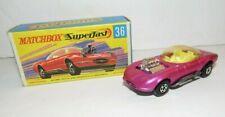 Vintage Matchbox 1970 Lesney Superfast Draguar no 36 Pink w/ Box