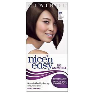 Clairol Nice'n Easy Semi-Permanent Hair Dye No Ammonia 82 Dark Warm Brown
