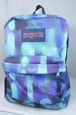New Jansport Superbreak Classic Backpack Multi Lava Lamp School Bag Blue Green