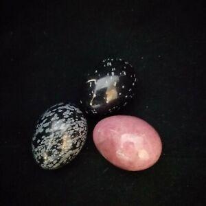 Victorian Semi Precious Stone Eggs