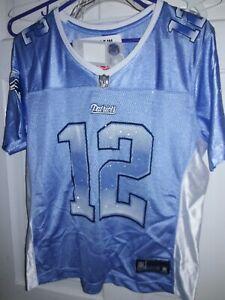 Tom Brady New England Patriots NFL Pats Reebok Vintage football Jersey Ladies L