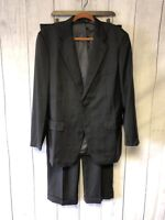 Brooks Brothers 1818 Madison Suit 41R Pants Size 35x32 Gray Wool K-914