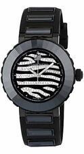 Swarovski Octea Sport Zebra Swiss Made Women's Black Watch 50 meters 5040563