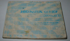 Betriebsanleitung Owner´s Manual Honda CB 750 F / CB 750 FZ Manual Du Conducteur