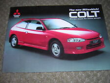 ORIGINAL MITSUBISHI COLT SALES BROCHURE 1996