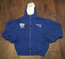 Vintage DeLong New England Patriots Miller Lite Jacket Medium
