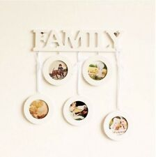 Pastoral Style Family 5 hanging White Wooden Picture Photo Frame Gift