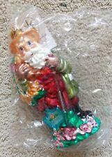 """*Brand New* Christopher Radko Flower Power Santa Ornament 7"""" Retired Spring 2000"""