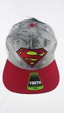 New Youth Superman Logo Hat Cap Snapback Osfm Adjustable Nwt