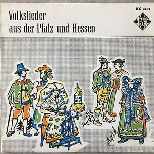 VOLKLIEDER AUS DER PFALZ UND HESSEN - Guilleaume/Titze (EP TEL UX 4702 /Mono)
