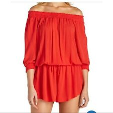 NWT Raisins Swimsuit Cover Up Romper Red Strapless West Coast Red Size XL