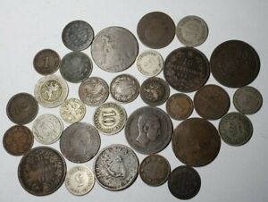 Lot of 30 1800's World Coins