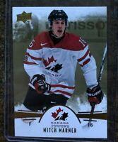 2016-17 UD Team Canada Jrs Mitch Marner Gold Insert Card  # 81
