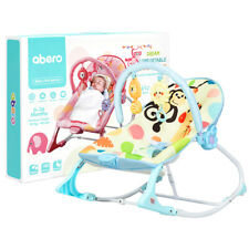 3 in 1 Babywippe&Babyschaukel&Babyliegestuhl mit Vibrationsmodi 18kg belastbar