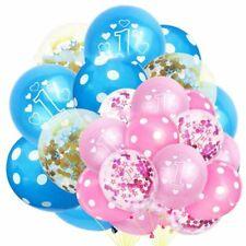 15Pcs 12' Baby 1st Latex Balloons Birthday Wedding Party Festival Decor Tools