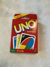 Uno Card Game Mattel 2009 2-10 Players Family New Sealed