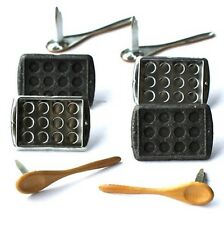 BAKING  BRADS ** 2 CUTE ** SEE MY STORE ** COOKIE SHEETS, SPOONS 8 PCS