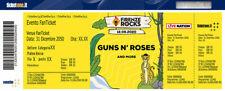 1 Biglietto GUNS N ROSES tickets PIT davanti al palco! Firenze Rocks 12/06/2020