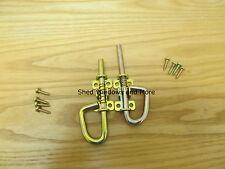 Spring Barrel Bolt Loop Style (1 Pr) Shed Door Coops Shed Hardware w/screws