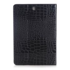"Samsung Galaxy Tab A 9.7"" Wallet Case Crocodile Style Smart Book Etui Schwarz"