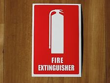 FIRE EXTINGUISHER STICKER / DECAL, SIGN, BOAT, GARAGE, HOME  PROTECTION.SAFETY.