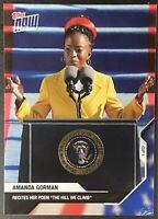 "2020 USA Election Topps NOW #20 - Amanda Gorman Inauguration ""IN HAND"" PR 14716"