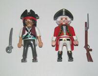Playmobil Figurine Personnage Lot Pirate & Officier Corsaire + Accessoires NEUF