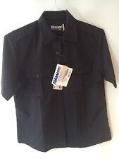 BLAUER CLASSACT 8910W Short Sleeve Rayon Blend Shirt - Size 40 Dark Navy