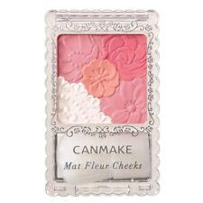 CANMAKE 01 Matte Apricot Matt Fleur Cheeks Blush Powder with Brush