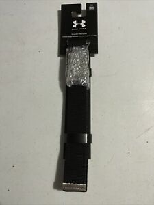UNDER ARMOUR WEBBING REVERSIBLE GOLF BELT ONE SIZE BRAND NEW Black/ Silver