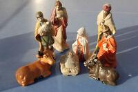 8 ANCIENS SANTONS EN BISCUIT porcelaine