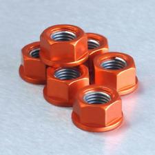 Pro Bolt Aluminium Motorcycle Sprocket Nuts (6 Pack) - Orange