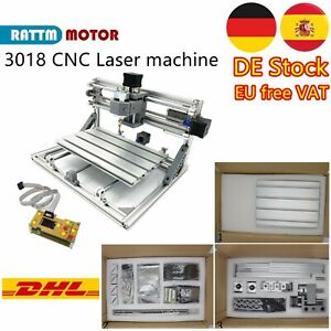 「ES」Mini CNC 3018 DIY GRBL wood Pcb router Laser Milling Machine+Hand Controller