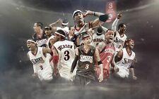 W742 Allen Iverson Basketball Star Pop Art Deco Poster Wall Fabric