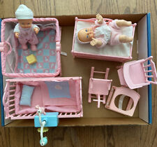 New ListingGaloob Lot Of 2 Bouncing Babies + Crib Playpen Changing Table Nursery Furniture