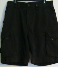 POLO RALPH LAUREN MEN'S CARGO SHORT PANTS-SIZE 34-100% COTTON-NAVY BLUE-FREE SHI