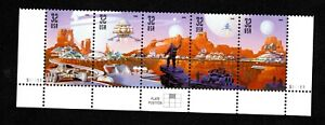 USA #3238-42 - 32 cent Space Discovery - se-tenant plate # strip of 5  VF/MN