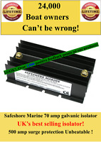 70 amp galvanic isolator 500 amp surge! Tried! Trusted! Reliable! Unbeatable!