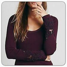 New Rare Sold Out Free People Masquerade Cuff Thermal Plum Purple XS