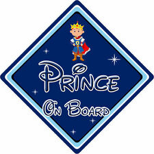 Disney Prince On Board Car Sign - Baby On Board Car Sign DB