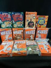VINTAGE MLB BASEBALL WHEATIES CEREAL BOXES RITZ CRACKERS 12 PC LOT