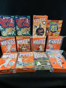VINTAGE WHEATIES CEREAL BOXES RITZ CRACKERS MONSTER CRUNCH MLB BASEBALL 12 PC