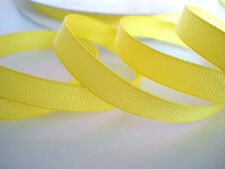 """50 yard Solid Grosgrain 3/8"""" Ribbon/9mm/Craft/Supply/Bright Color GR38-06 Yellow"""